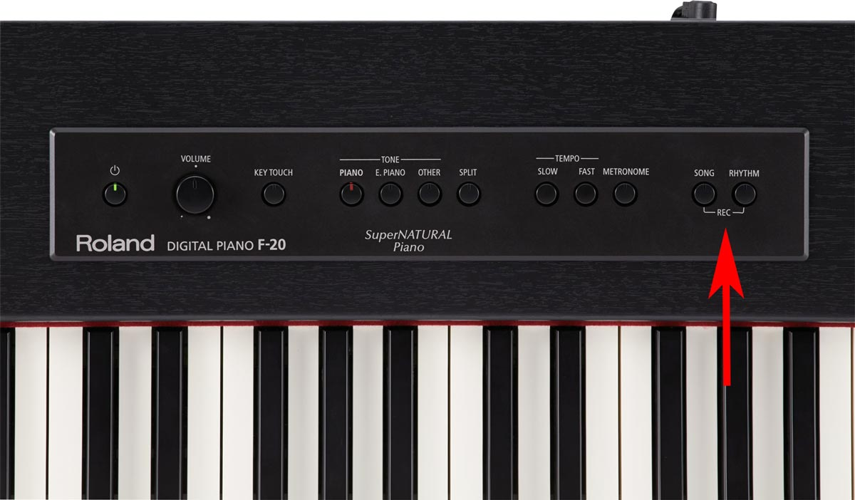 Recording Function on Roland F-20 Digital Piano