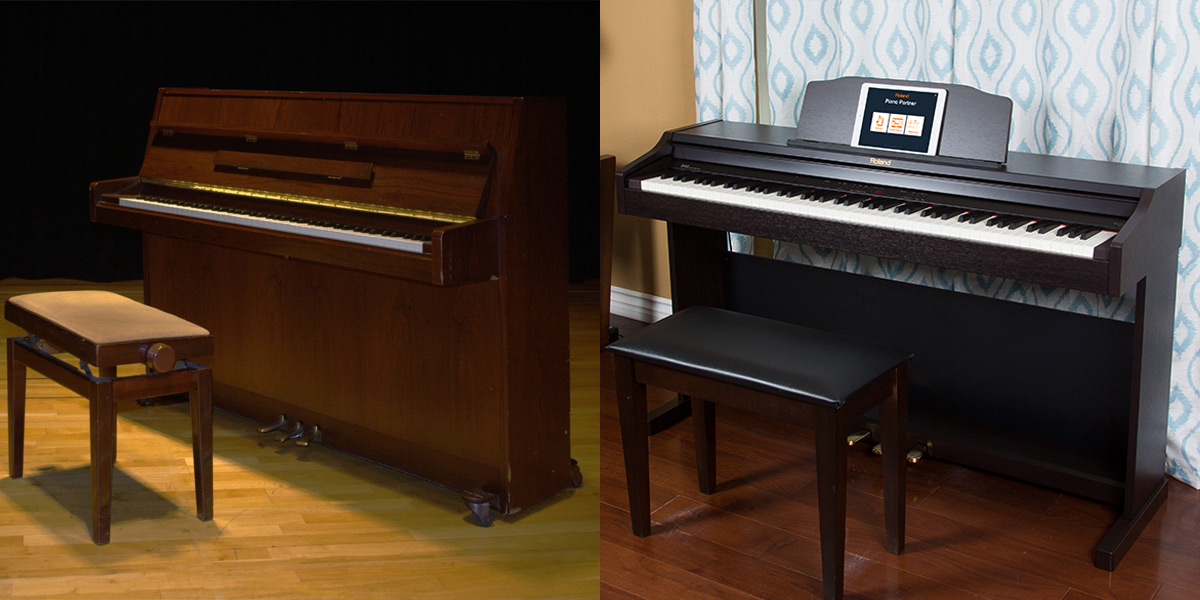 acoustic vs digital piano